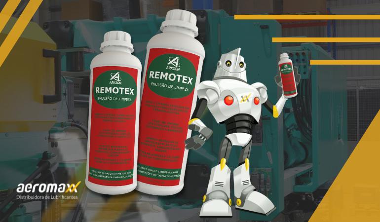 Remotex é o produto ideal para a limpeza de injetoras plásticas